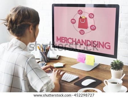 Shopping Online Buy Sale Shopaholic Concept - stock photo