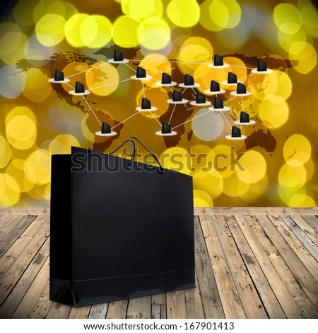 Shopping online by internet website, Network marketing concept - stock photo