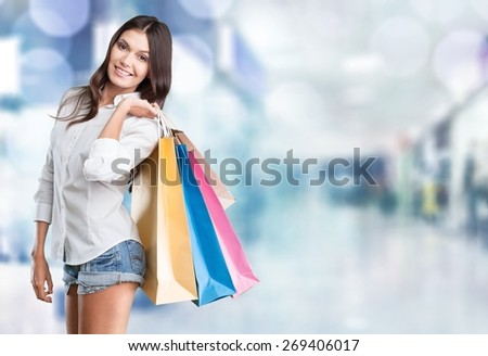 Shopping, retail, bags. - stock photo