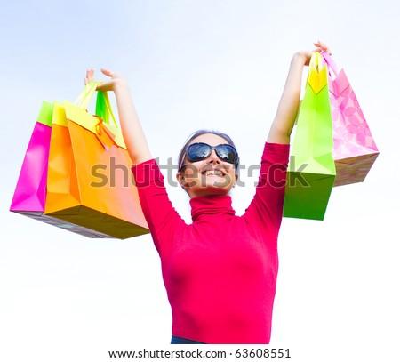 Shopping Spree Frenzy!!! - stock photo