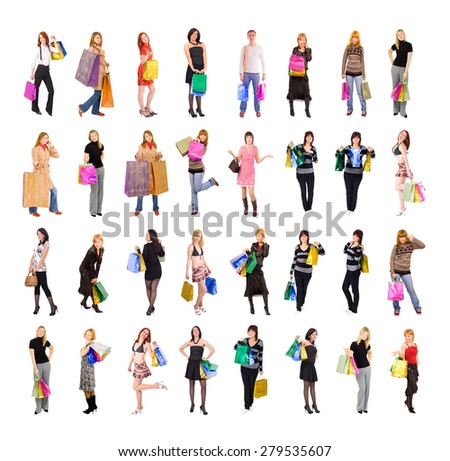Shopping Spree Isolated Concept  - stock photo