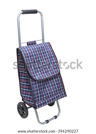 Shopping trolley bag, isolated on a white background - stock photo