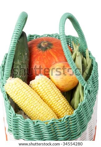 shopping vegetable. - stock photo