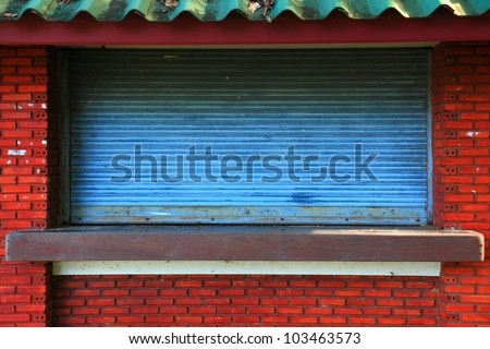 Shops were closed. - stock photo