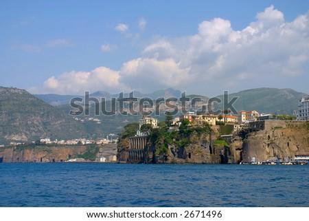 Shore line Sorrento, Italy - stock photo