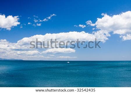 Shore of Black sea - stock photo