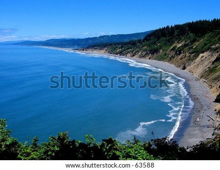 Shoreline at Agate Beach, Patrick's Point State Park, CA - stock photo