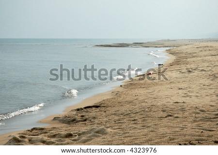 Shoreline - Indiana Dunes, USA - stock photo