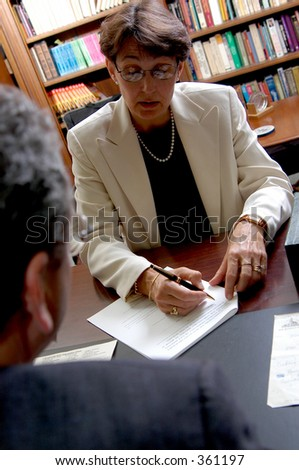 Shot of a business meeting - stock photo