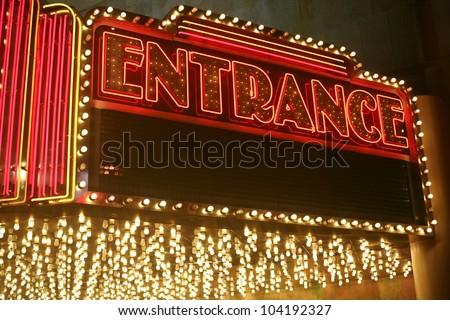 Shot of a Casino entrance in Las Vegas - stock photo