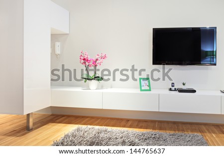 Shot of a modern living room - stock photo