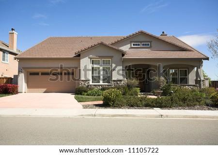 Shot of a Northern California Suburban Home - stock photo