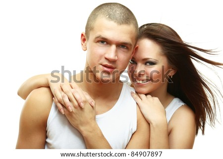 Shot of a passionate loving couple - stock photo