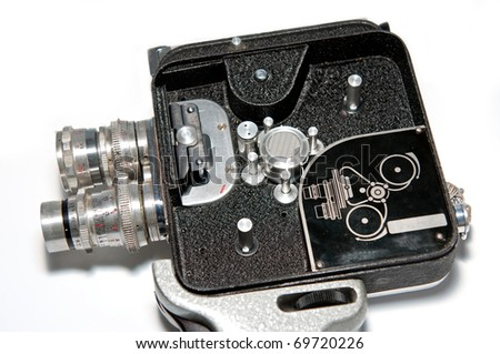 Shot of an old Czech video camera. - stock photo