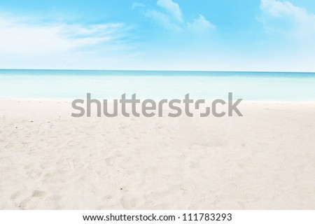 Shot of beach and tropical sea. shot during summer day - stock photo
