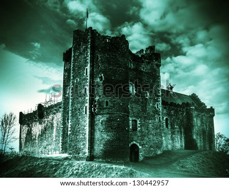 Shot of Doune Castle in Scotland - stock photo