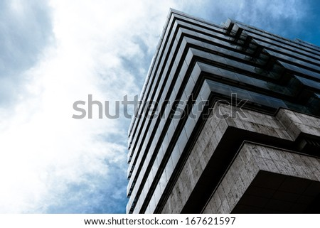 Shot of modern building - stock photo