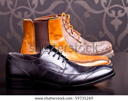 Shot of several types of shoes - stock photo