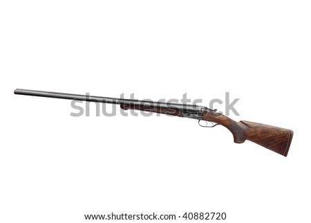 shotgun fowling-piece isolated - stock photo