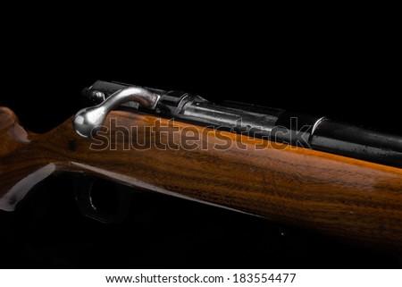 Shotgun on black - stock photo