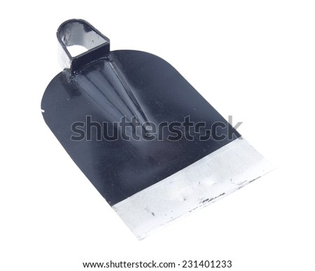 Shovel isolated on white background - stock photo