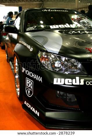 show car impreza - stock photo