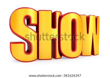 Show 3d text isolated over white background - stock photo