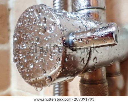 Shower Faucet - stock photo