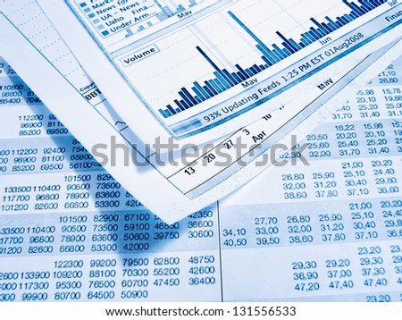 Showing business and financial report - stock photo