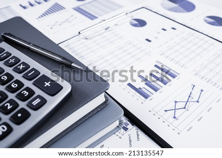 Showing business and financial report. Accounting - stock photo