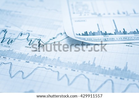 Showing business and financial report. Exchange - stock photo