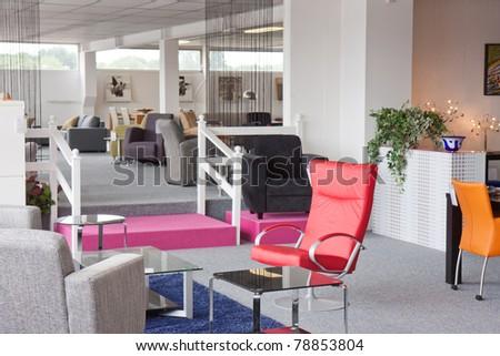 Showroom of modern furniture - stock photo