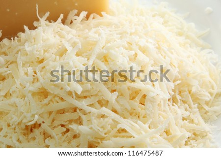 Shredded Cheese - stock photo