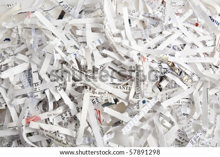 Shredded paper - stock photo
