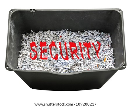 Shredding personal information for security - stock photo