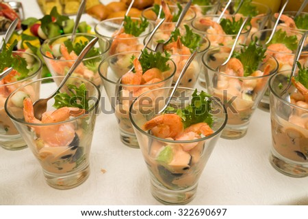 Stock images similar to id 73511953 canape made from shrimp for Canape para coctel