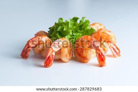 shrimp prawns  - stock photo