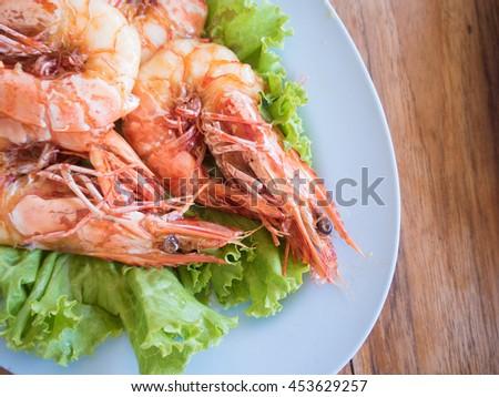 Shrimp with fish sauce - stock photo