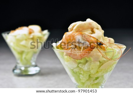 shrimps cocktail - stock photo