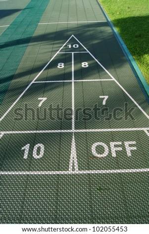 Shuffleboard game - stock photo