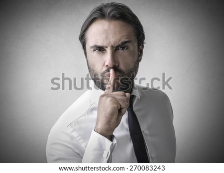 Shut up!  - stock photo