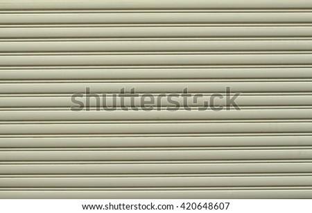 Shutter steel door texture background - stock photo