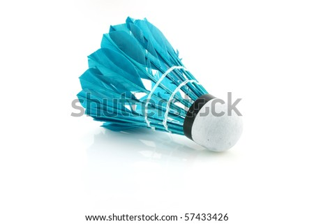 shuttlecock - stock photo
