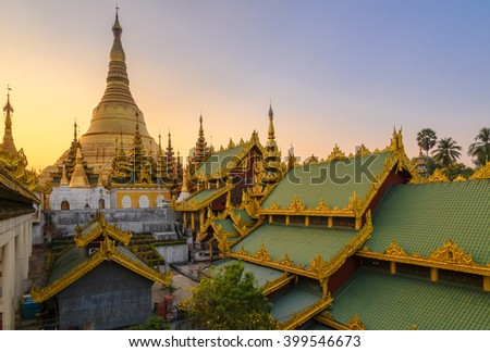 Shwedagon Pagoda. Yangon. Myanmar (Burma) - stock photo