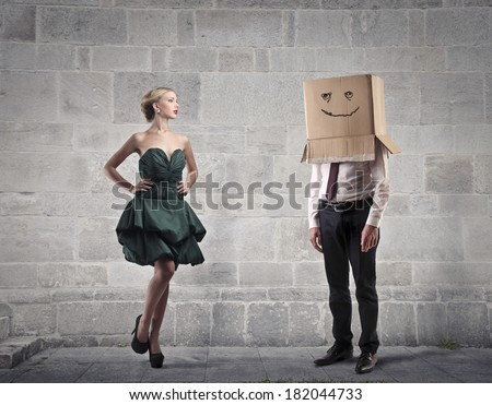 shyness - stock photo