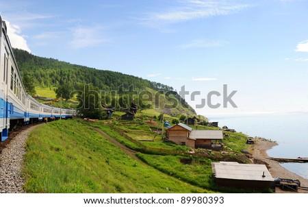 Siberia Baikal - stock photo