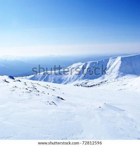 Siberia. Russia in winter time. - stock photo