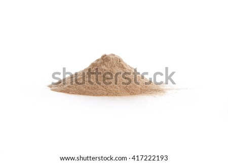 Siberian ginseng, eleuthero, powder on white. Eleutherococcus senticosus. - stock photo