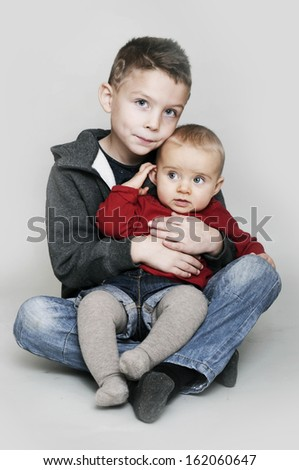 siblings - stock photo