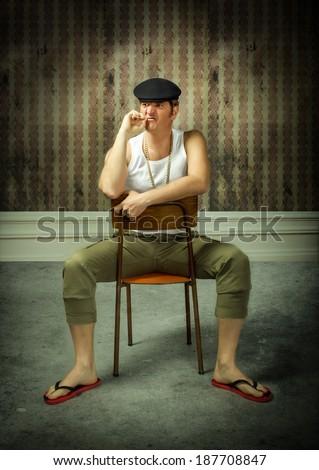 sicily traditional man  - stock photo
